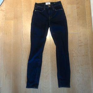Frame dark denim stretch jeans